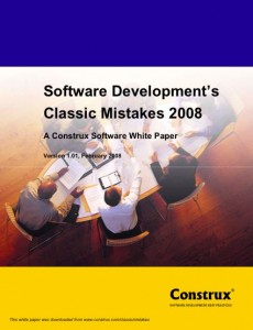 Software Development\'s Classic Mistakes 2008